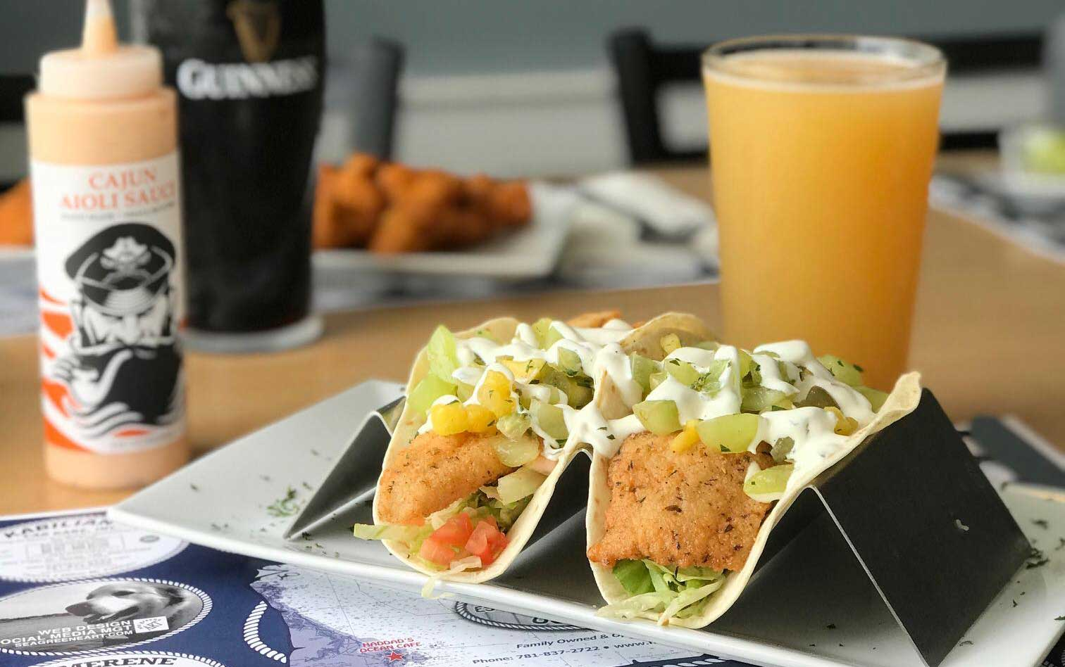 Best-Seafood-Restaurant-Haddads-Ocean-Cafe--Fish-Tacos-with-house-Cajun-Aioli